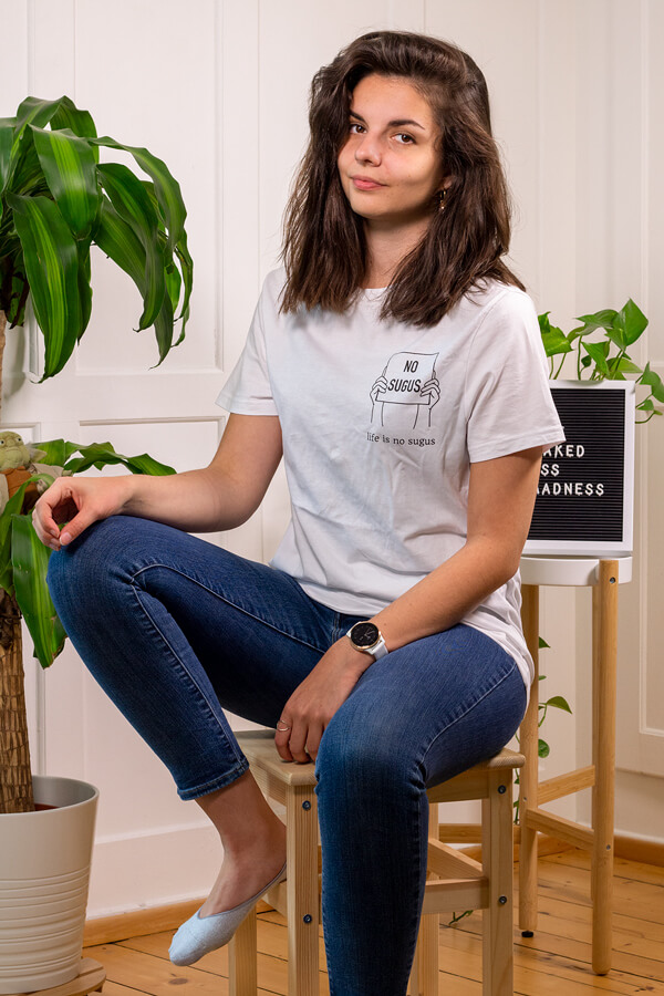 Produktbild T-Shirt life is no sugus