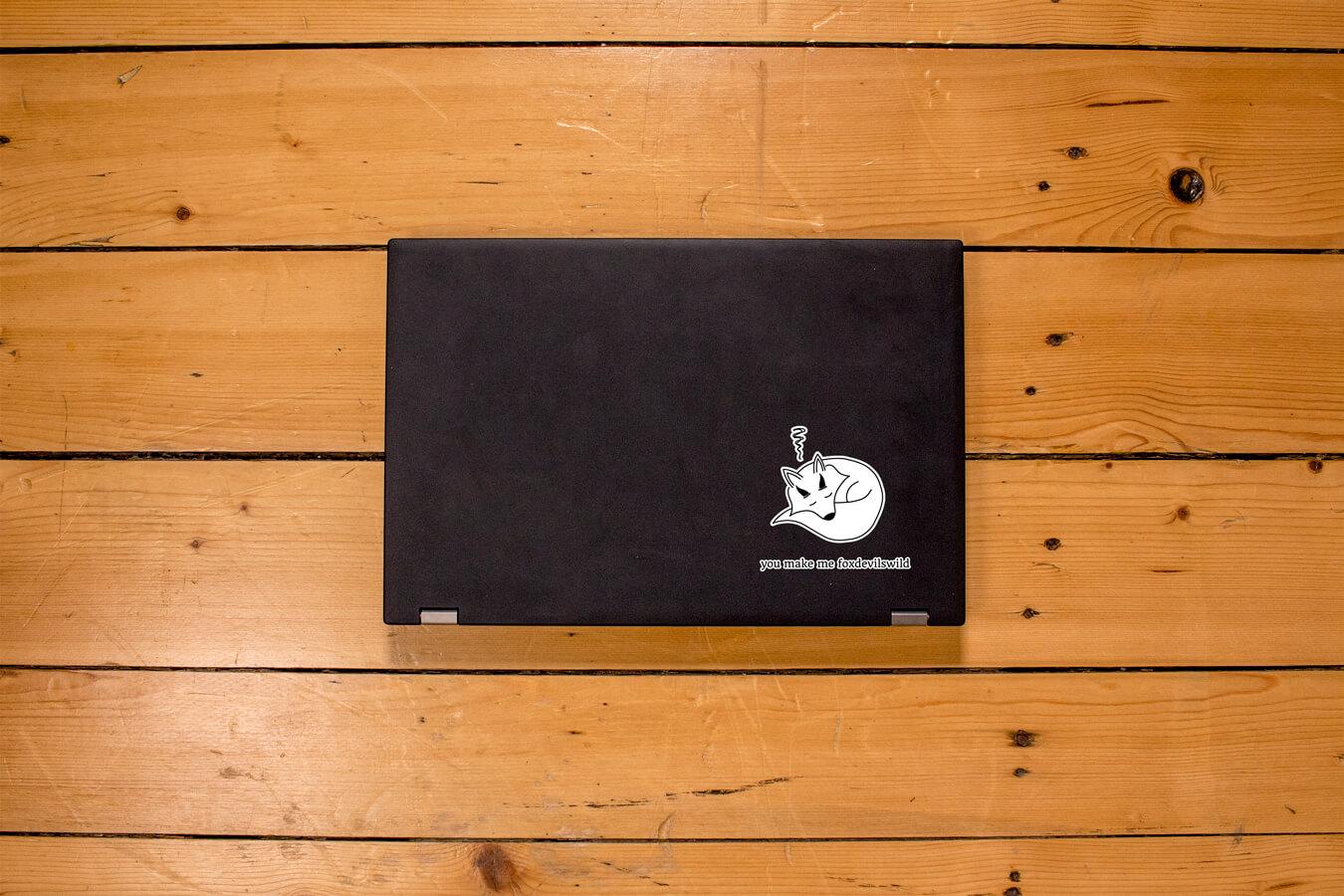 Produktbild Sticker you make me foxdevilswild auf Laptop